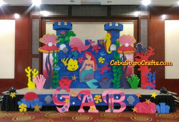 Ballroom-sized Little Mermaid-themed Styro Backdrop