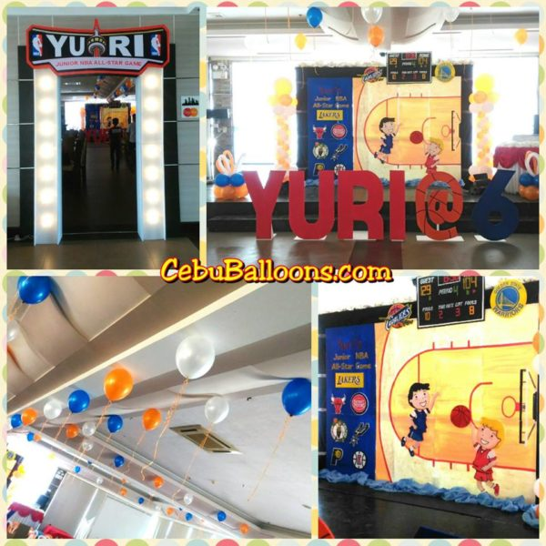 Basketball-themed Stage Backdrop and Entrance for Yuri