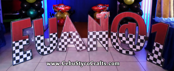 Cars-Theme Letter Standee (EUAN @ 1)