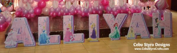 Disney Princess Theme Letter Standee (Alliyah)