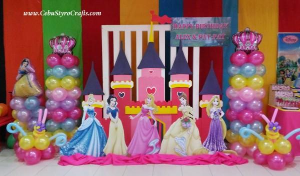 Disney Princesses with Castle - Full Styro Backdrop