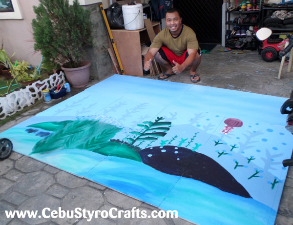 Mark is Finalizing an Underwater Backdrop (8ft x 6ft)