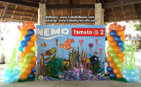 Finding Nemo Balloons & Styro Backdrop at Tambuli Beach Resort