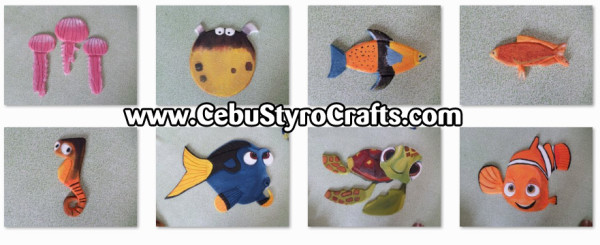 Finding Nemo Characters Painted Styro Crafts