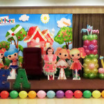 Lalaloopsy Tarpaulin Backdrop with Character, Celebrant and Letter Styro Crafts