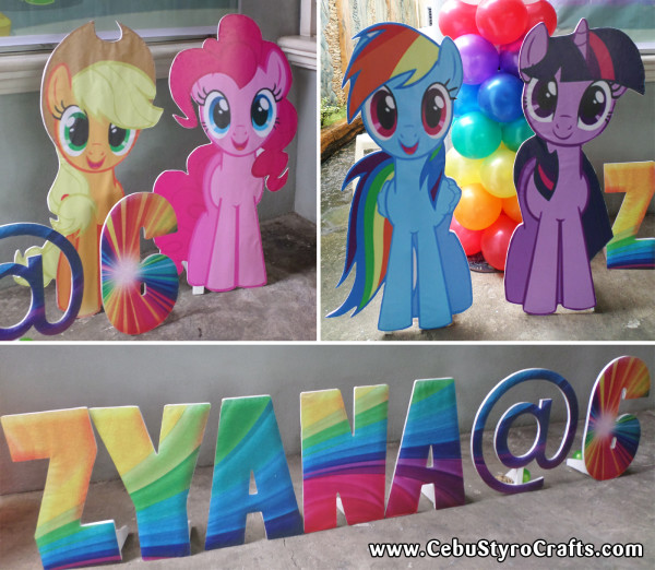 Little Pony Character Standees with Letters