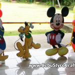 Mickey & Friends Styro Standees at Silver Hills Talamban