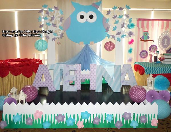 Owl theme Stage Decoration using Styro at Choi City