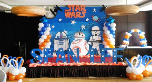 Star Wars BB8 R2D2 Storm Trooper Full Styro Backdrop