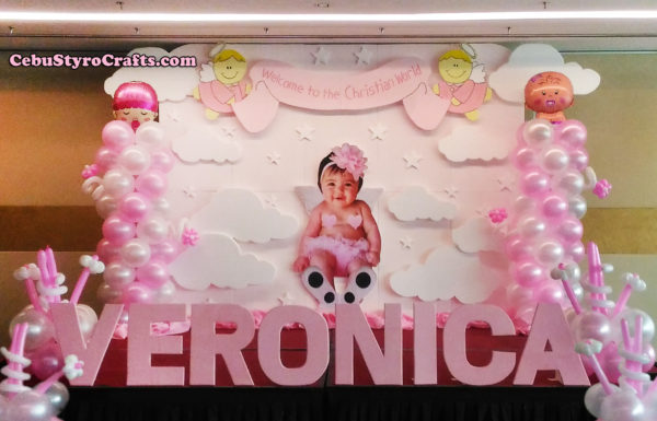 Veronica Styro Backdrop with Balloons