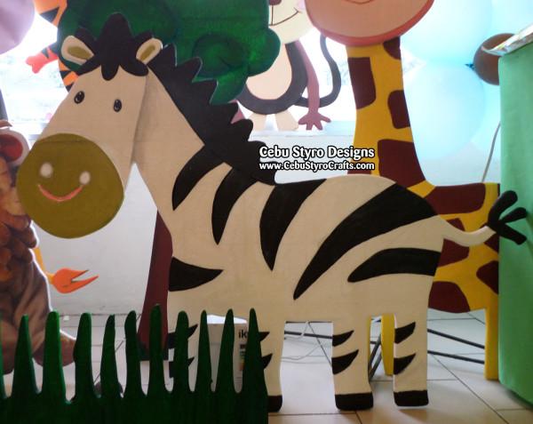 Zebra Painted Styro Standee